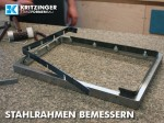 Stahlrahmen mit Bandstahl bemessern