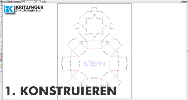 Konstruktion der Stanzform in CAD