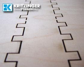 Holzschnitt für Stanzform