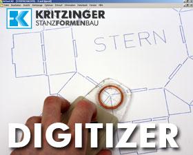 Digitizer für Stanzfor-Konstruktion
