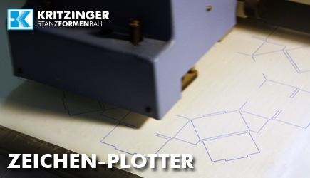 Zeichen-Plotter zur Kontrolle des Entwurfs